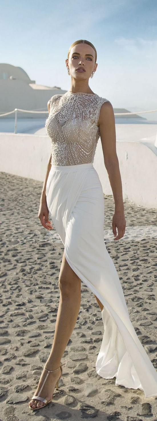2 beachy wedding dresses Dresses from Julie Vino Beach Wedding Dresses by Julie Vino Santorini Collection