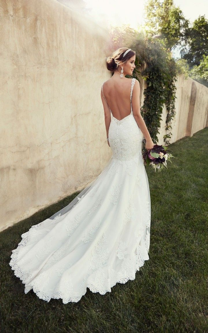 52 perfect low back wedding dresses backless wedding dresses Essense of Australia backless mermaid wedding dress