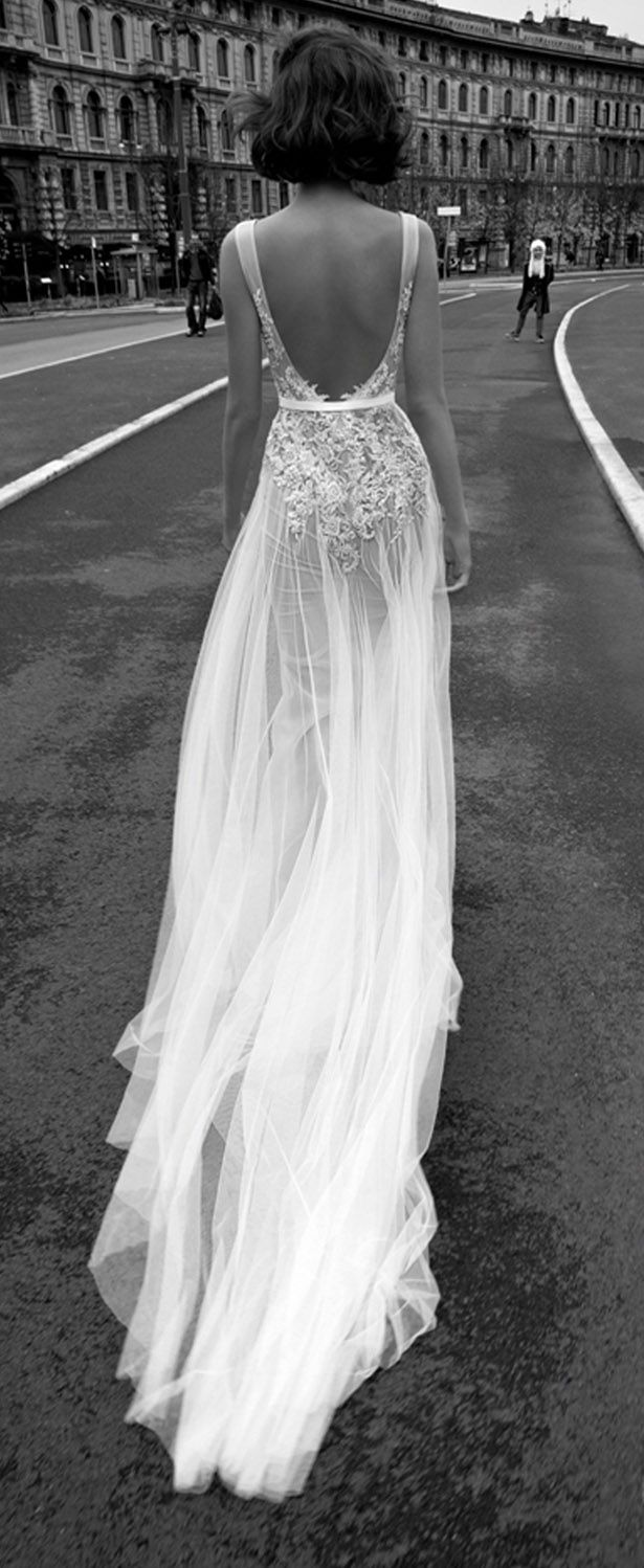 52 perfect low back wedding dresses backless wedding dresses Liz Martinez Bridal Collection Milan Backless Tulle Wedding Dress