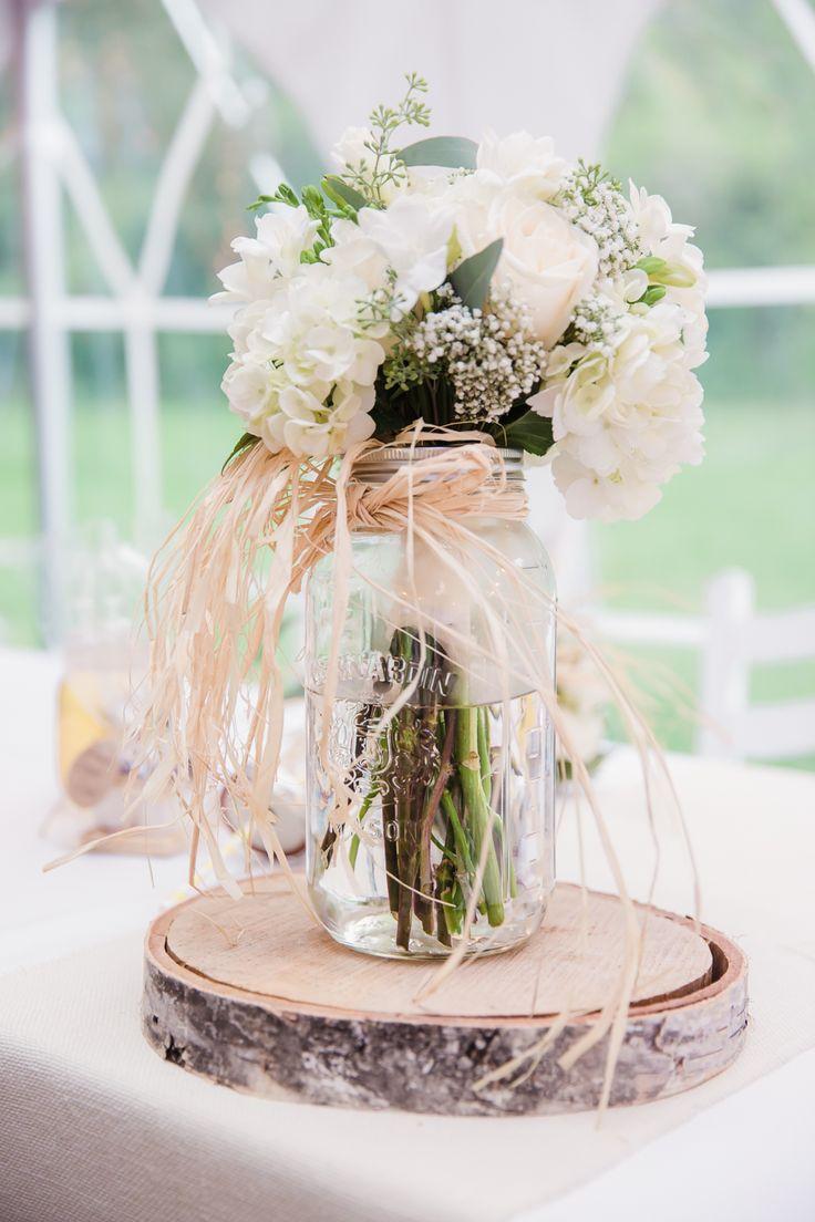 rustic mason jar and birch wedding centerpiece ideas wedding centerpiece rustic mason jar and birch wedding centerpiece ideas