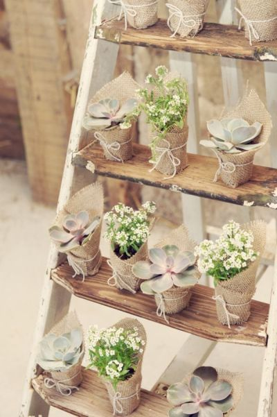 50 Chic-Rustic Burlap and Lace Wedding Ideas - Deer Pearl ...