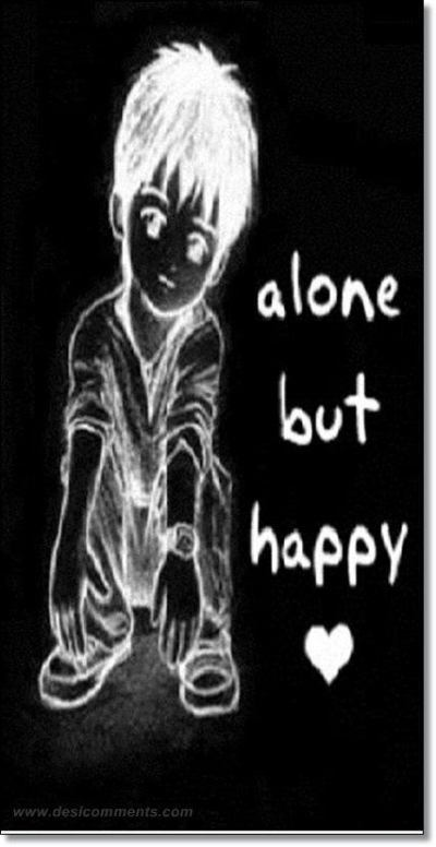 Alone but happy - DesiComments.com