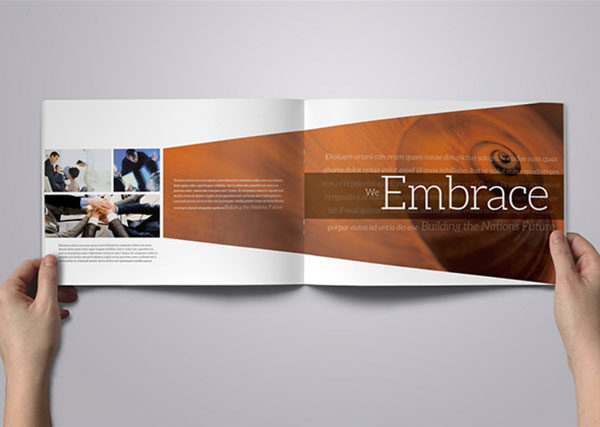 25 Really Beautiful Brochure Designs   Templates For Inspiration Corporate Brochure Design Inspiration 5