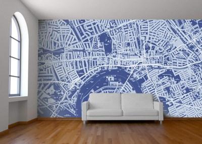 Custom Map Wallpaper - Design Crush
