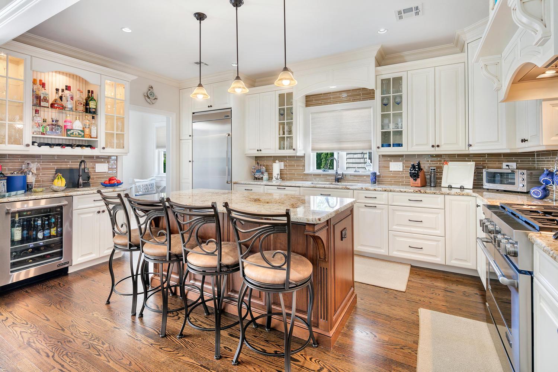 Best Beach Kitchen kitchen cabinet height Shore Kitchen with Staggered Height Cabinets