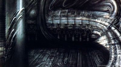 Biomechanical Landscape 007 Surrealist H R Giger Art Wallpapers ... Desktop Background