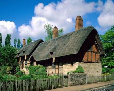 Desktop Wallpapers » Natural Backgrounds » Anne Hathaways Cottage, Stratford Upon Avon, England ...