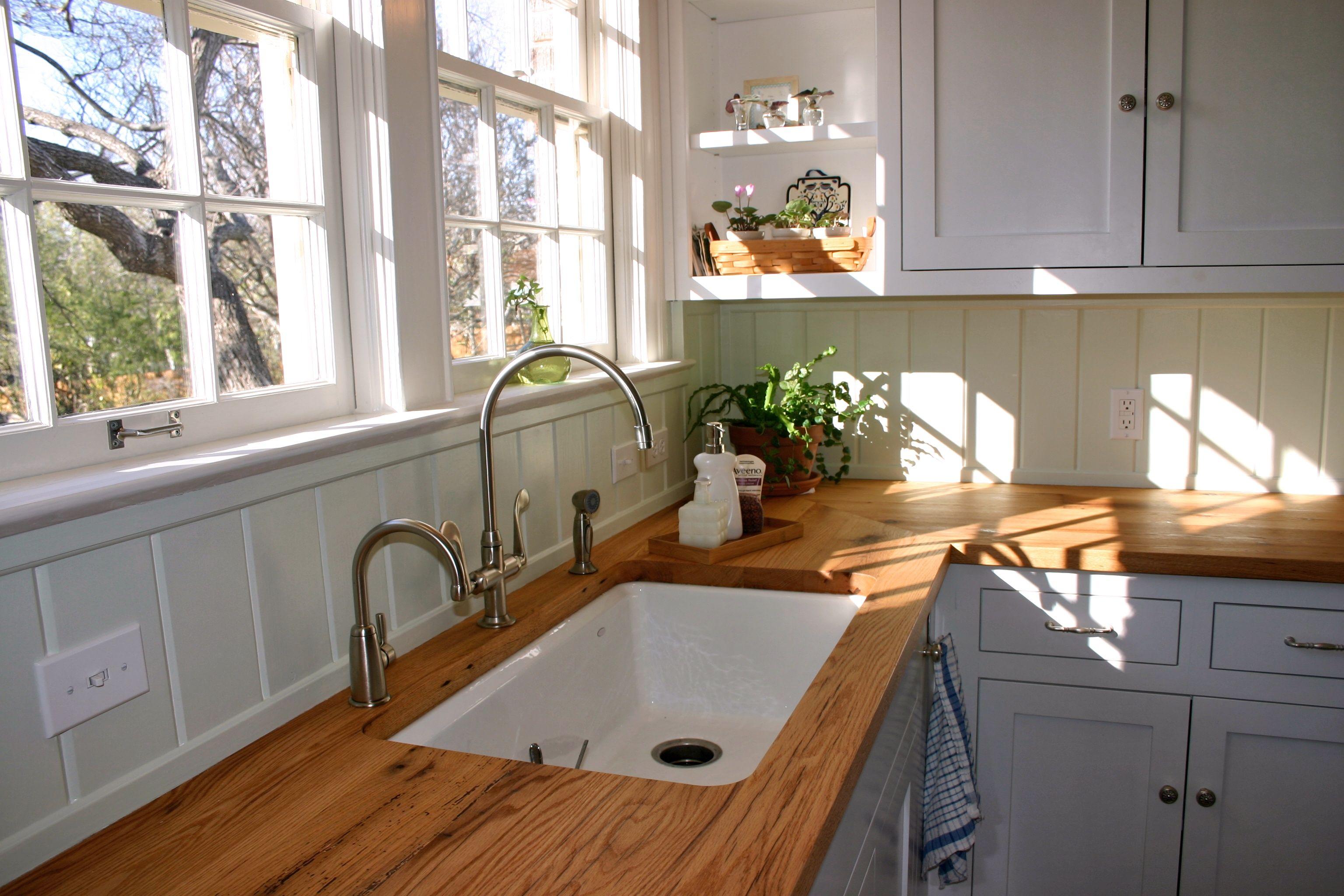 reclaimed white oak wood countertop photos wood countertops kitchen Reclaimed White Oak face grain custom wood countertop