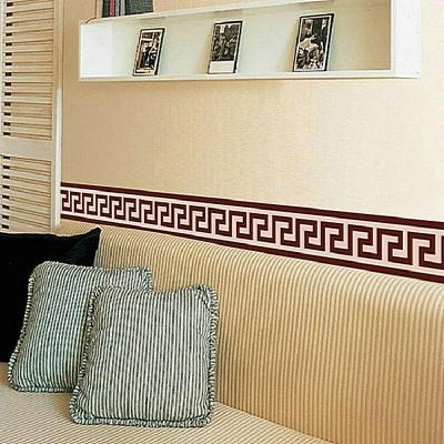 Wall Border Liner Sticker Wall Decor Mural DIY Home Decoration Check Art Mural Wallpaper Decor ...
