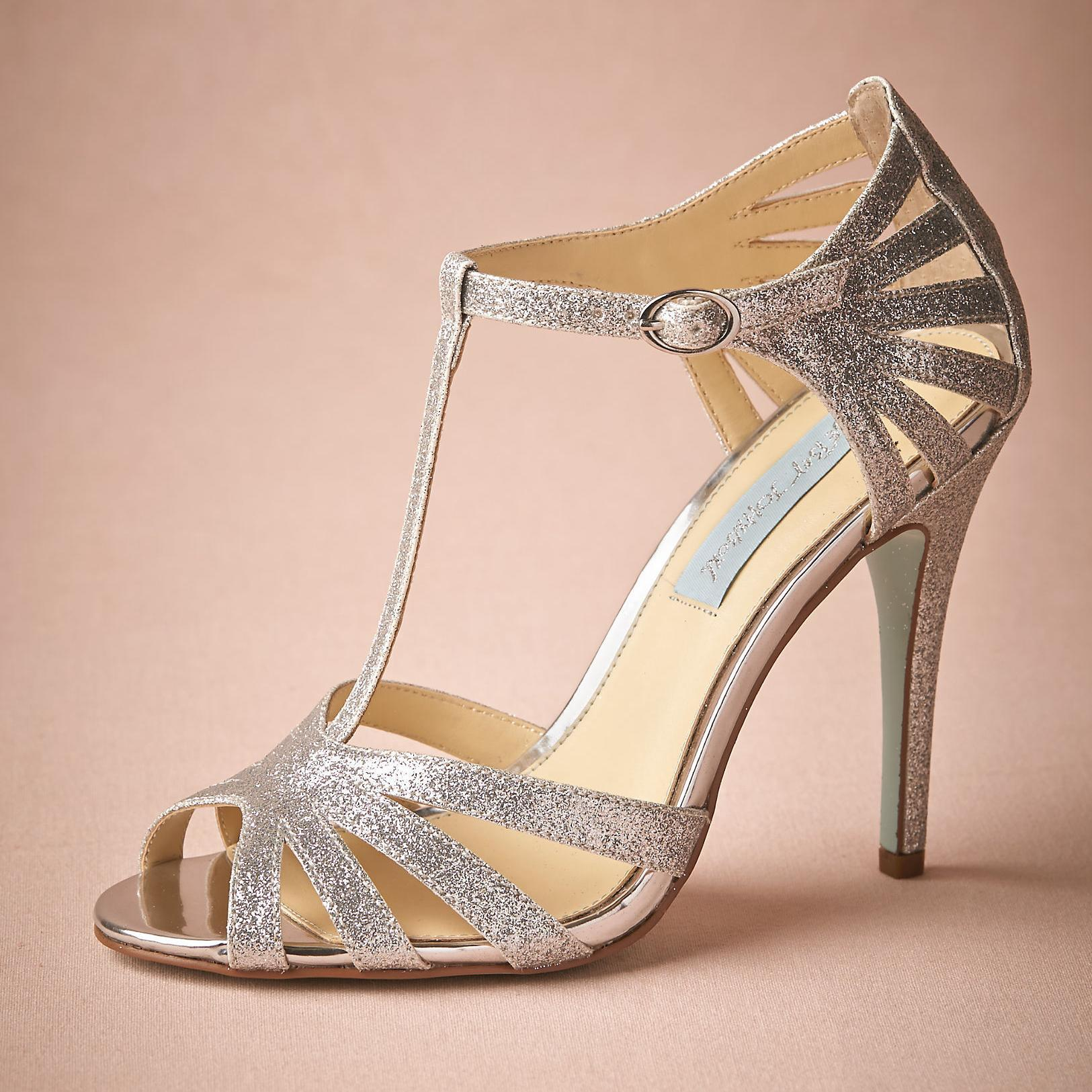84 silver shoes for wedding Silver Glittery Wedding Shoes Handmade Pumps T Strap Leather Sole