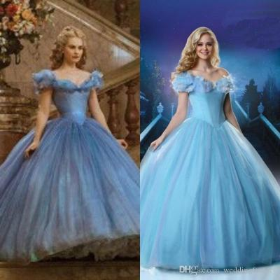 2015 Newest Cinderella Wedding Gown Movie Ball Gown Tulle ...