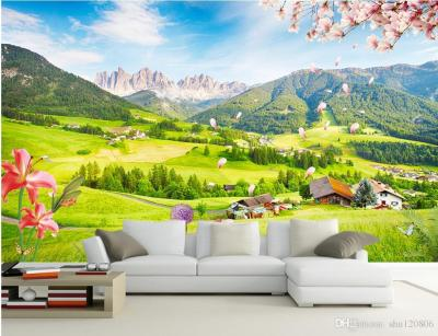 3d Room Wallpaper Custom Photo Mural Outdoor Green View TV Wall Background Wall Painting Picture ...