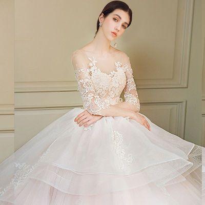 Korean Wedding Dress 2018 New Long Sleeved Long Sleeved ...