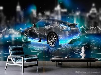 HD Wallpaper For Bedroom Walls Water Sports Car 3d Wall Paper For Living Room Photo Non Woven 3d ...