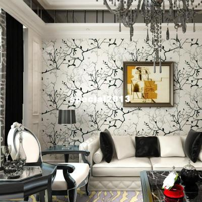 Wallpaper Living Room Tv Wall Background Wall Black And White Grey Brief Abstract Wallpaper 4001 ...