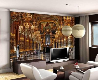 Luxury Embossed Mura Wallpaper 3d Palace Classic Tv Sofa Background 3d Abstract Murals Photo ...