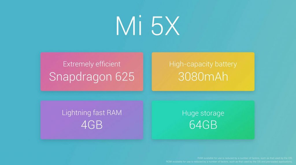 Xiaomi Mi 5x specification