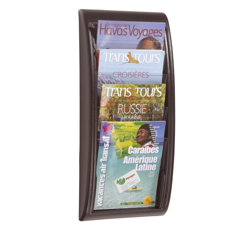 A4 Wall Mount Brochure Holder   Discount Displays A4 Wall Mounted Brochure Holder   Black