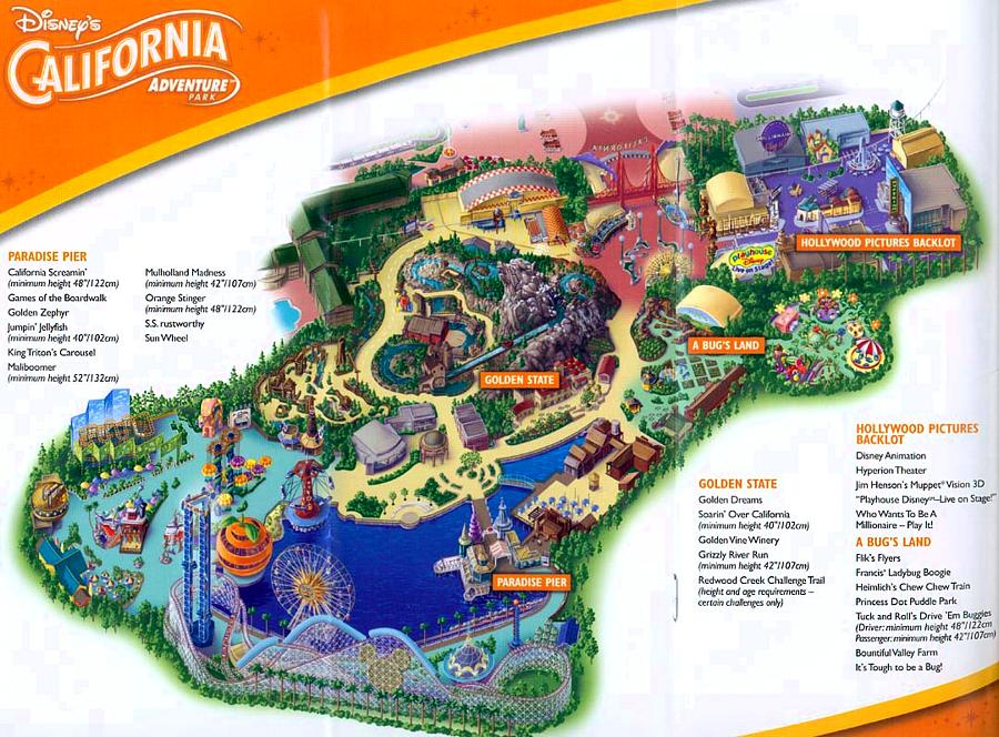 Disney Disney s California Adventure Map 2003