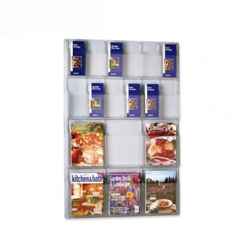 Wall Mounted Leaflet   Brochure Holders   Displaysense Multi Pocket DL Leaflet and A4 Brochure Holder   Wall Mounted
