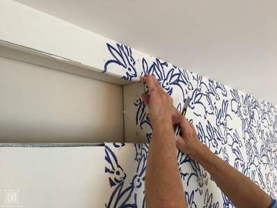 How to Hang Wallpaper - DIY Decor Mom