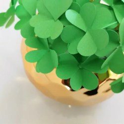 How to Make Paper Four Leaf Clovers Diy Inspired