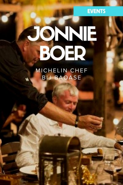 Michelin chef Jonnie Boer bij Baoase