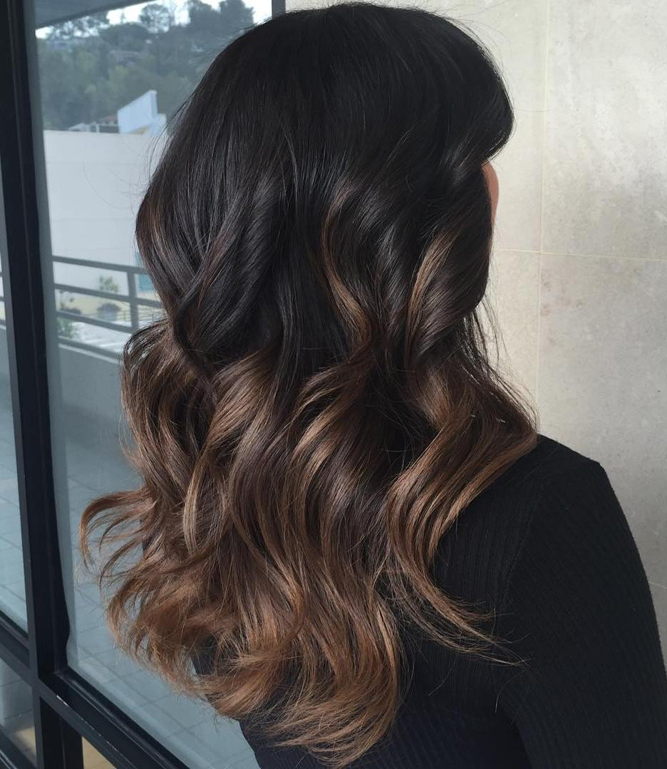 Best Ombre Hair Color Ideas for Blond  Brown  Red and Black Hair 13 black to brown ombre balayage