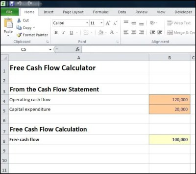 Free Cash Flow Calculator | Double Entry Bookkeeping