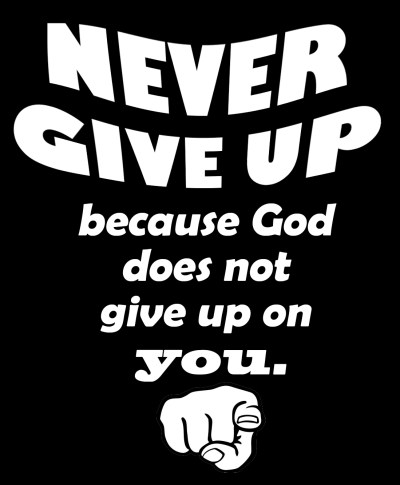 CHRISTIAN WALLPAPER: NEVER GIVE UP