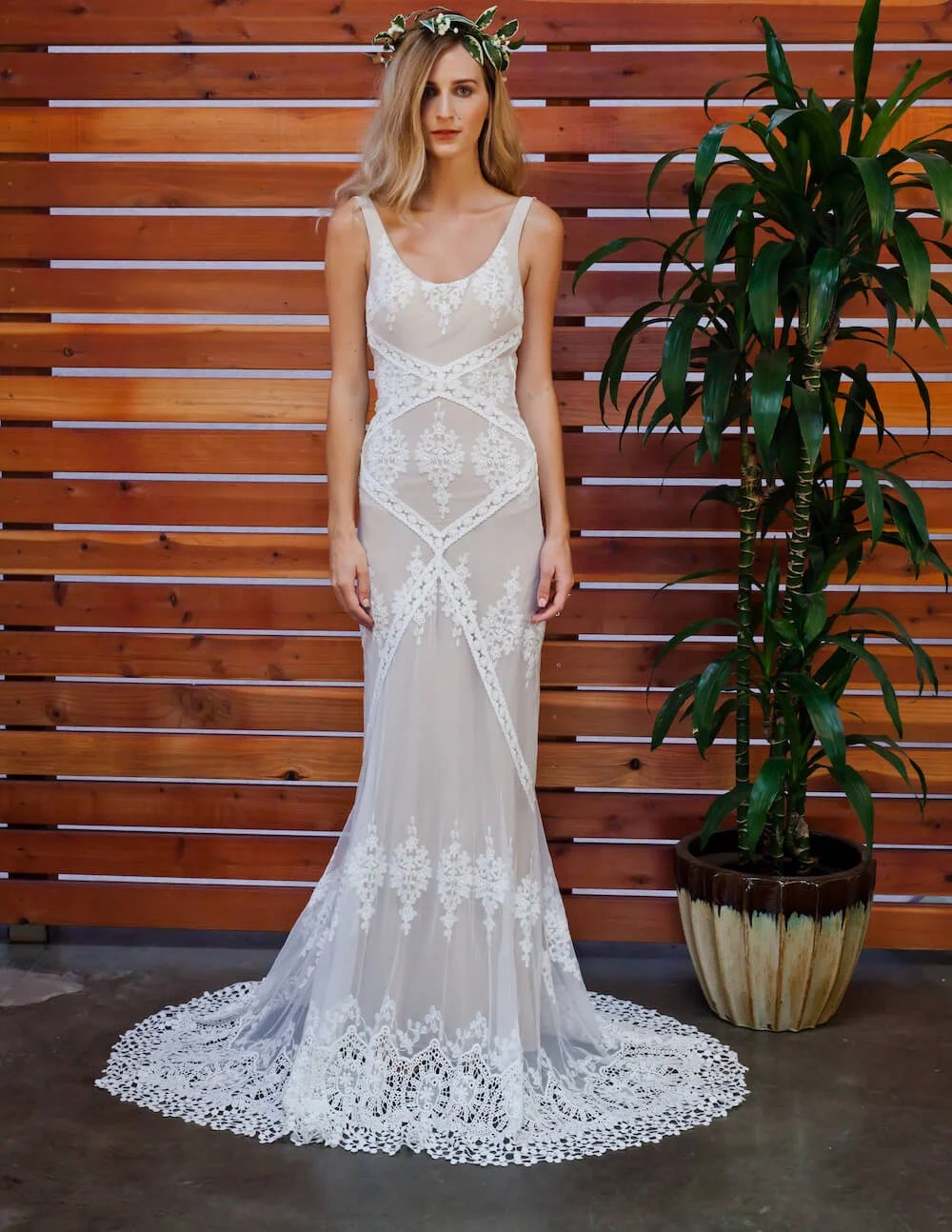 cecilia mixed lace bohemian boho wedding dress dreamers and lovers bohemian lace wedding dress with