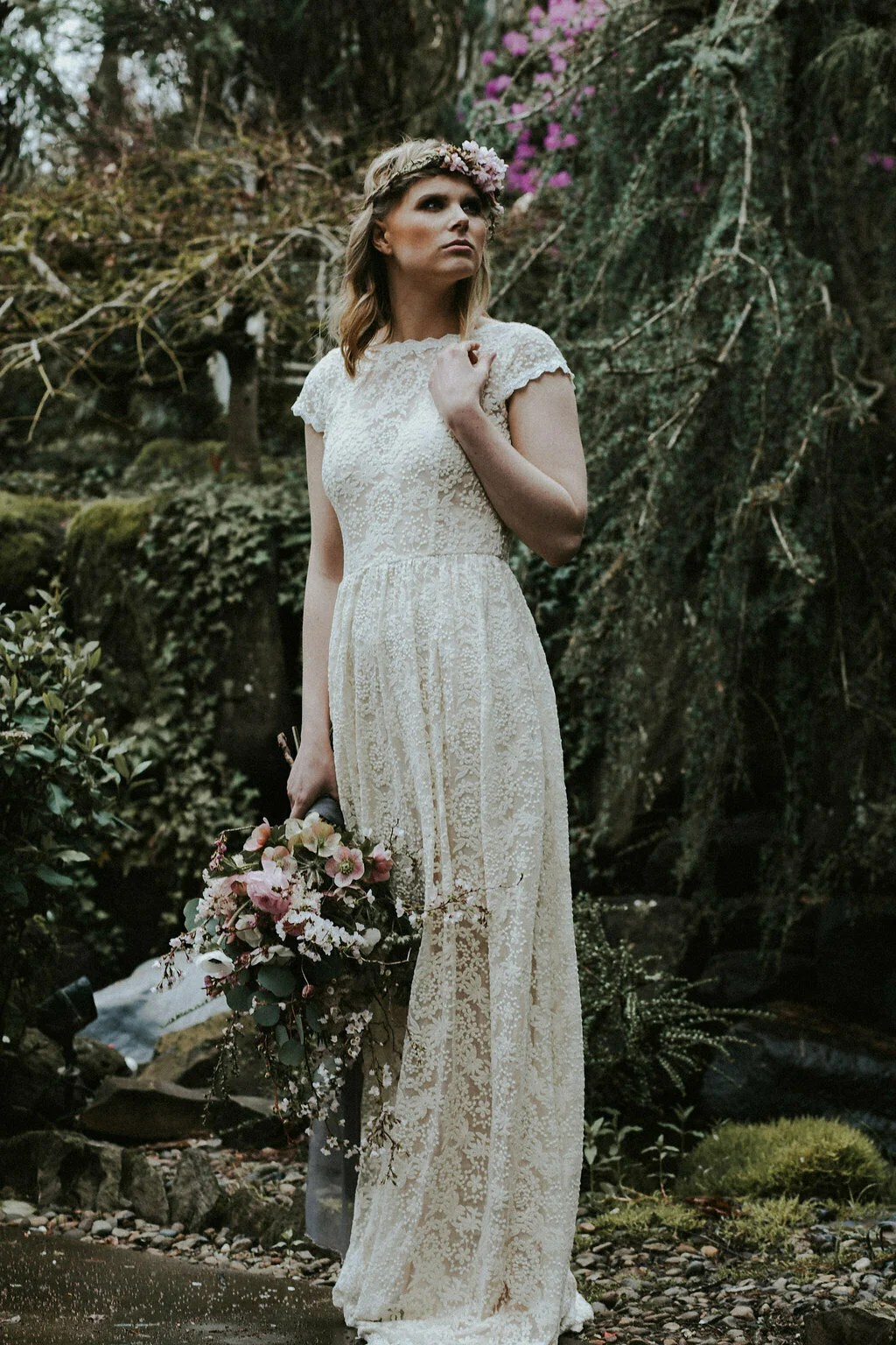 catherine backless simple lace wedding dress simple bohemian wedding dresses dreamers and lovers embroidered lace wedding dress with
