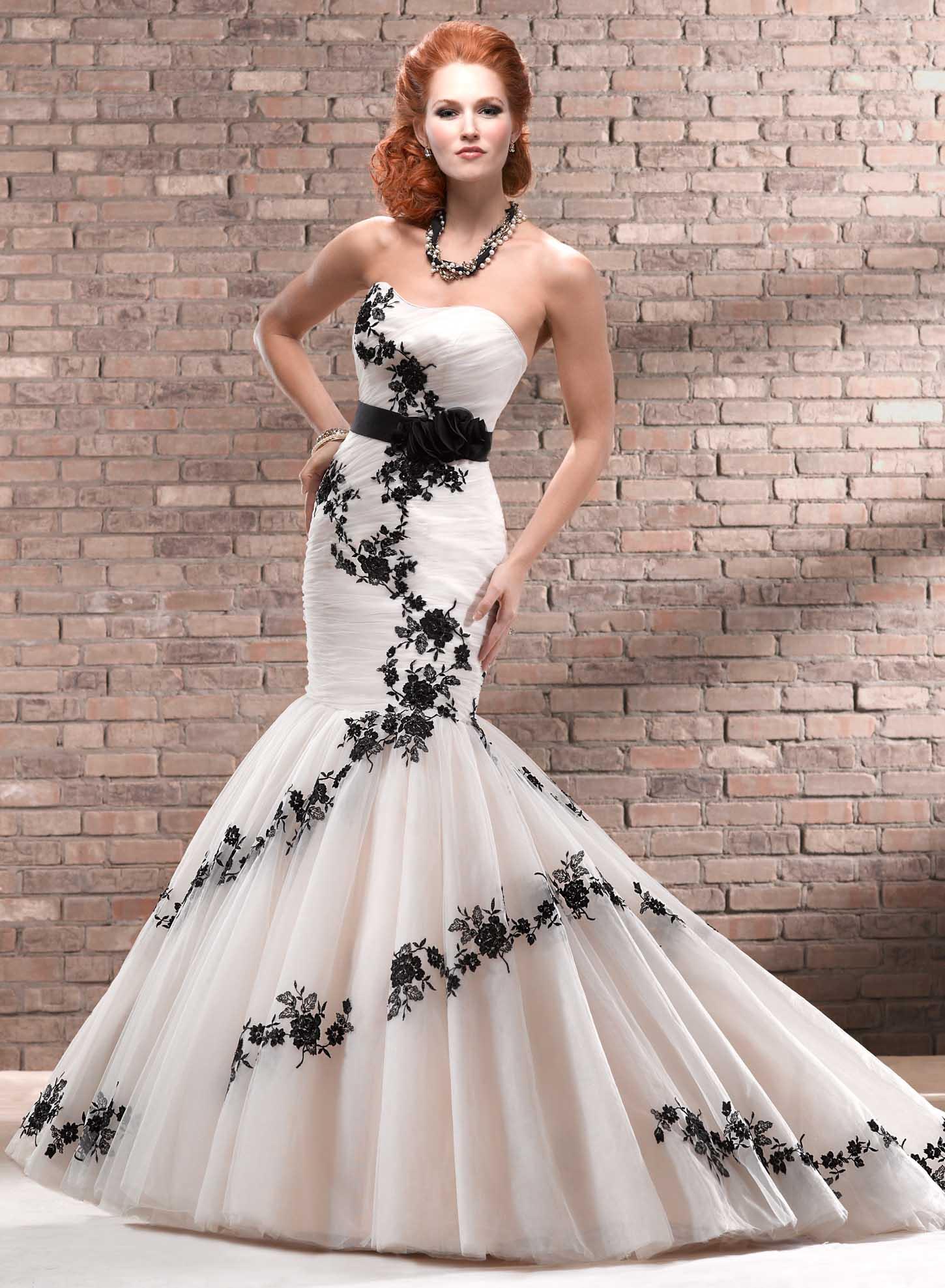 black wedding dresses black wedding dresses Black and White Wedding Dresses