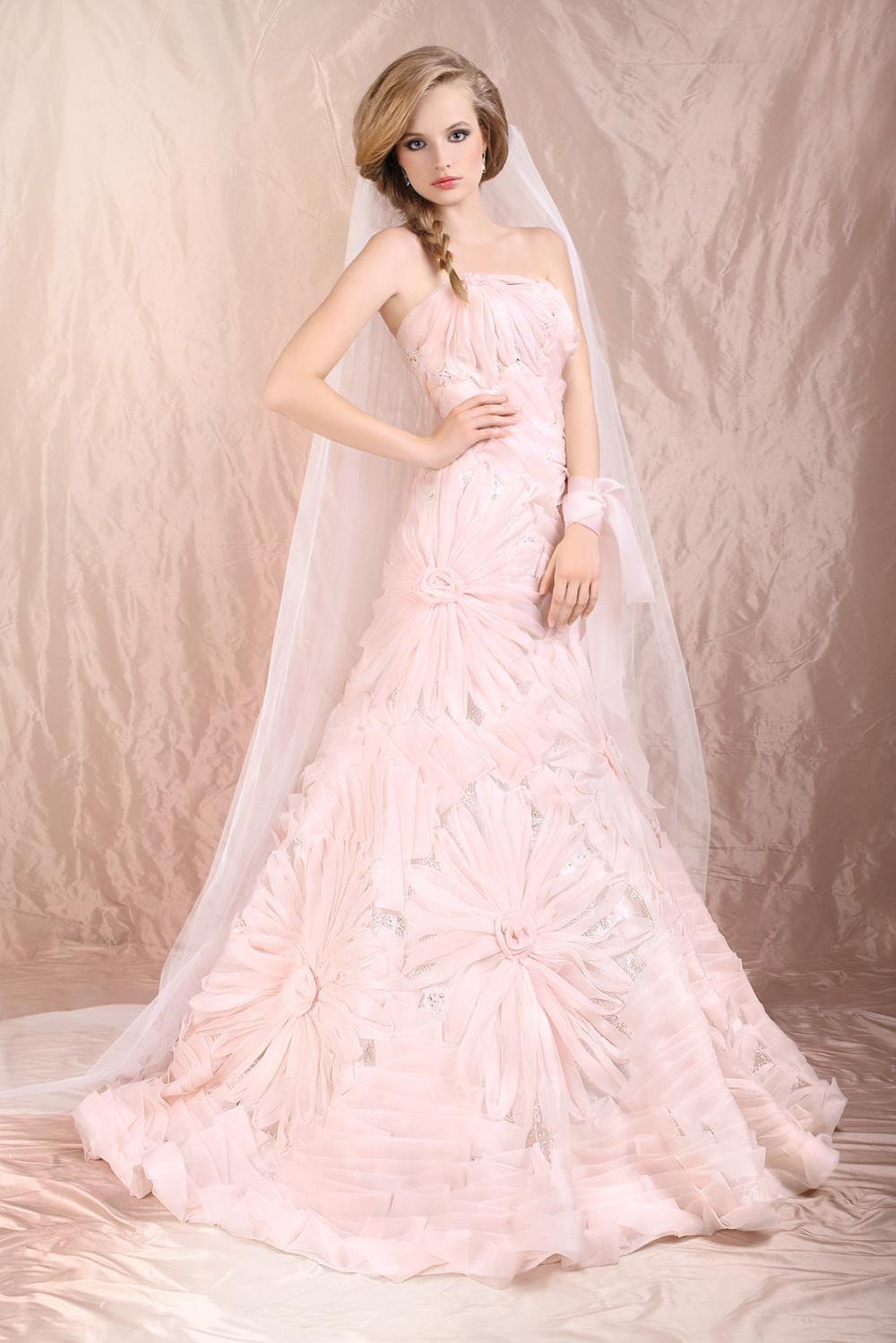 blush color wedding dress blush colored wedding dress Blush Wedding Dress Dressed Up Girl