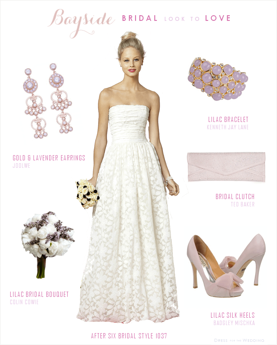 lace wedding dress with lavender accessories lavender and lilac wedding lilac wedding dress Bride with Lavender