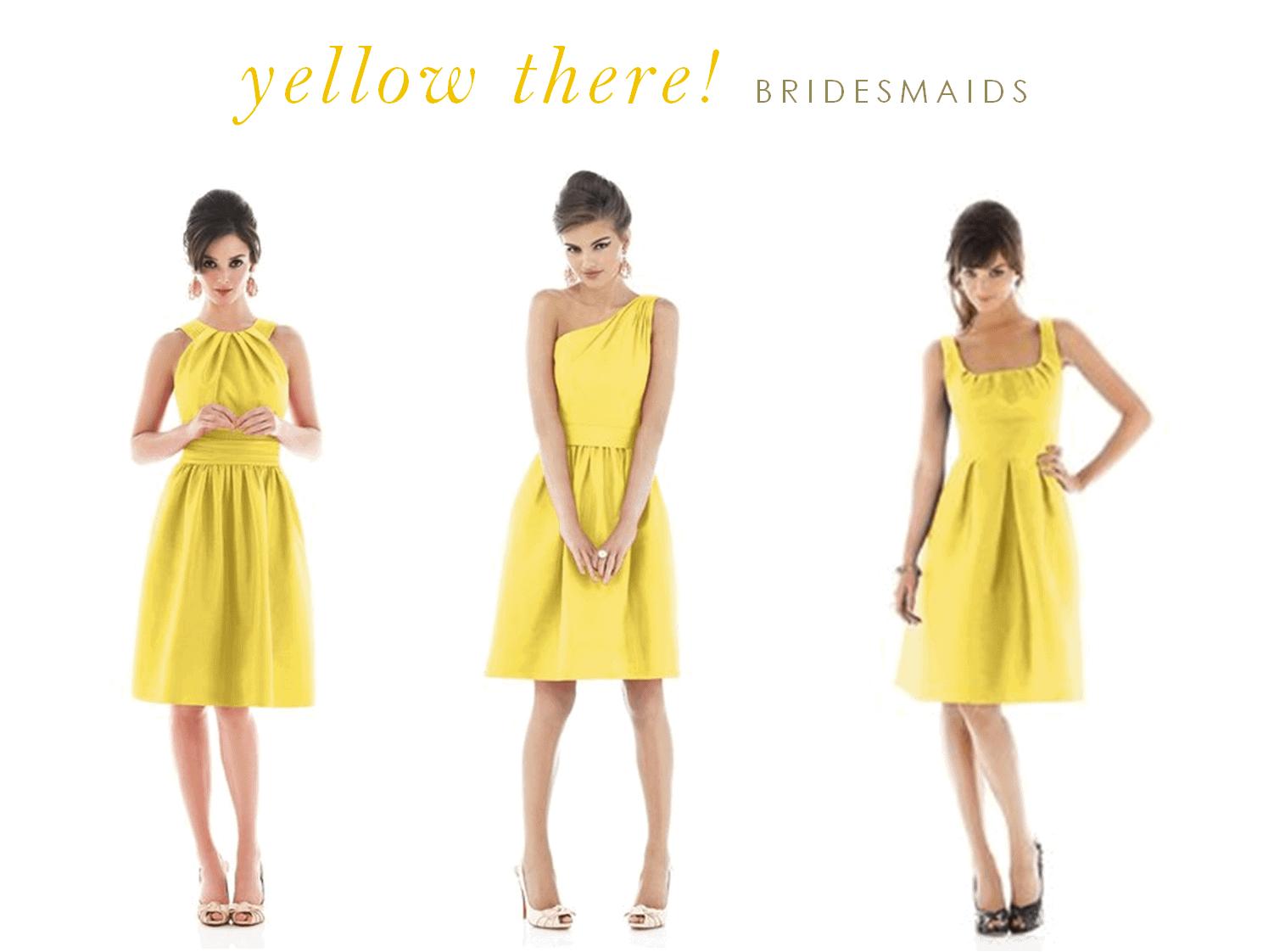 yellow dresses yellow wedding dress Yellow Dresses for Bridesmaids and Guests