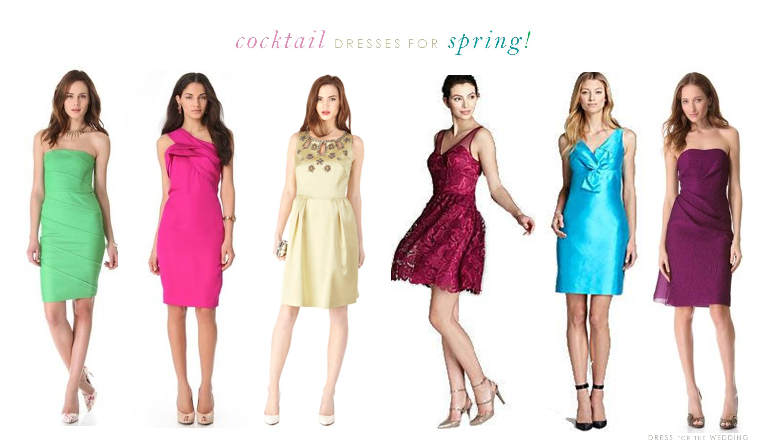 semi formal formal dresses for weddings Cocktail Dresses for Spring