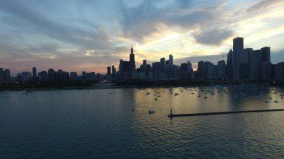 Chicago harbor Skyline | Dronestagram