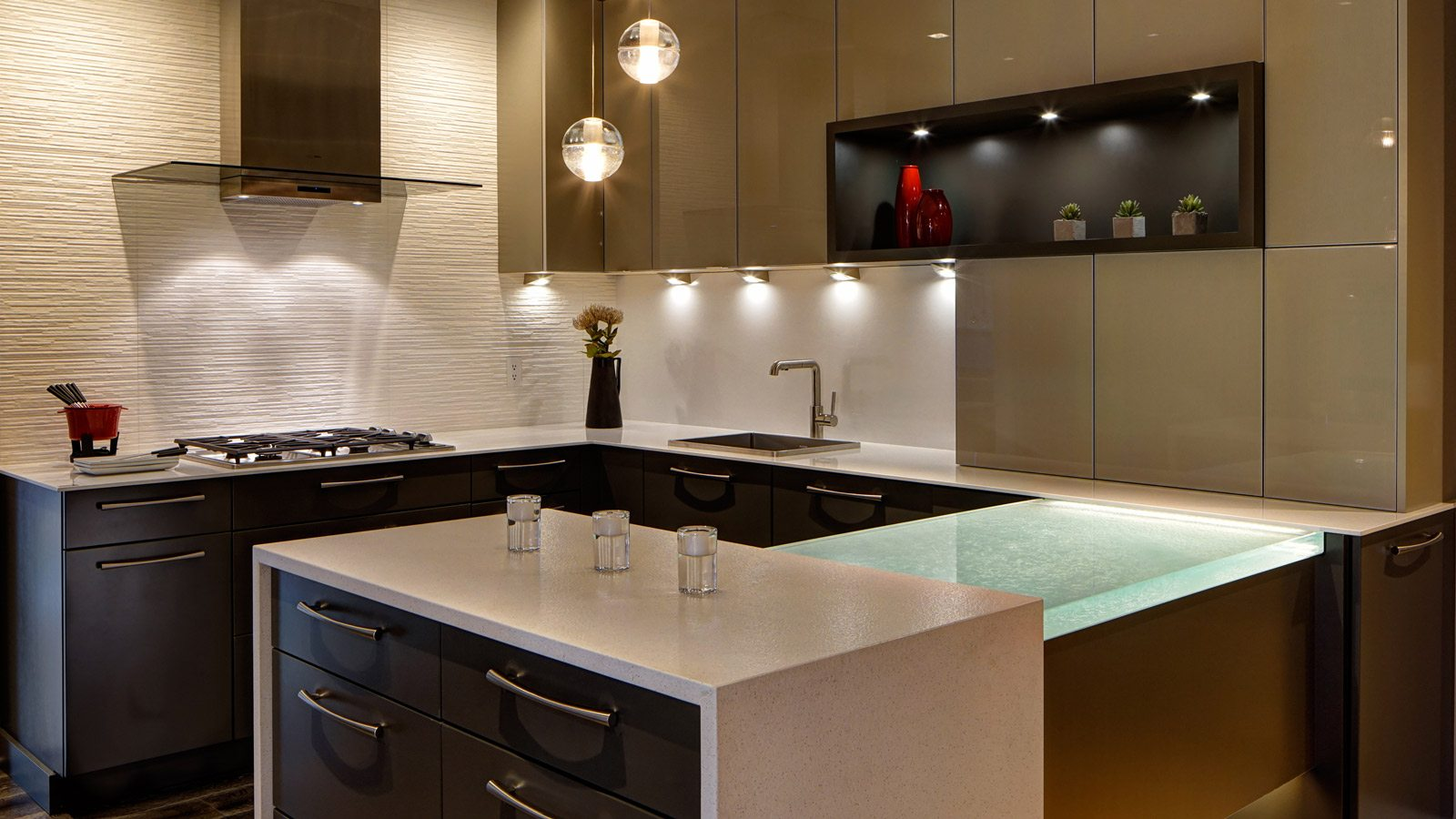 design showroom kitchen and bath design Contemporary Studio Vignette drury design
