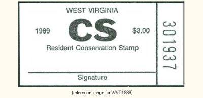 West Virginia - Conservation Stamp (CS/CSCS) (?-1989-99-?) - Summary