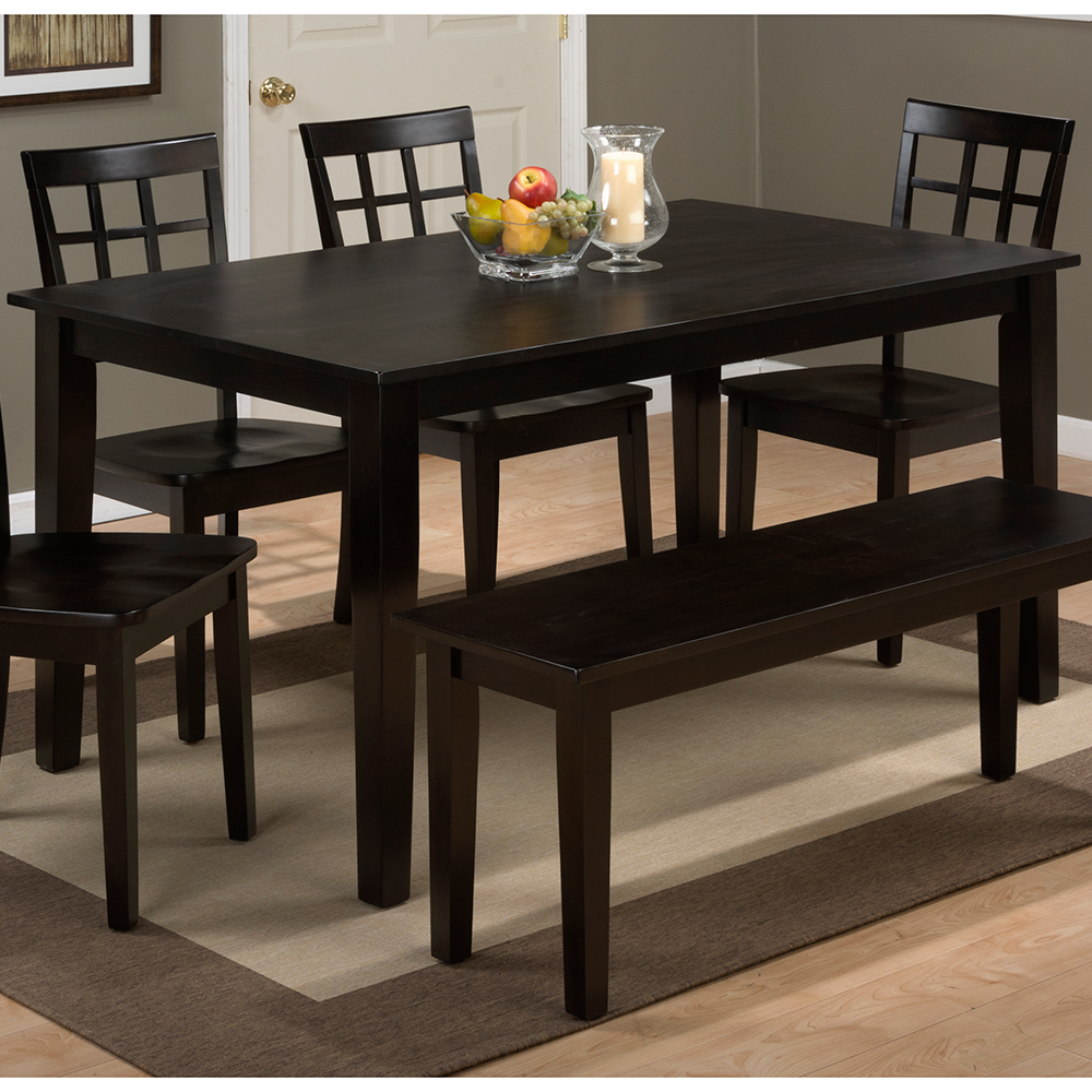 Jofran 60 rectangle kitchen table Simplicity Espresso Wooden Rectangle Dining Table