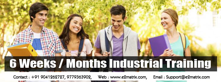 6 Weeks Months Industrial Training - E2matrix