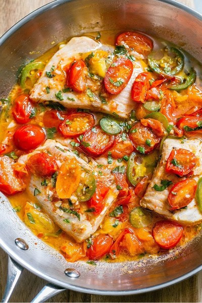 Tilapia White Fish Recipe in Tomato Basil Sauce — Eatwell101