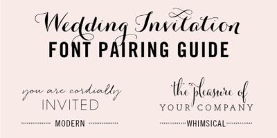 Wedding Invitation Font Pairing Guide