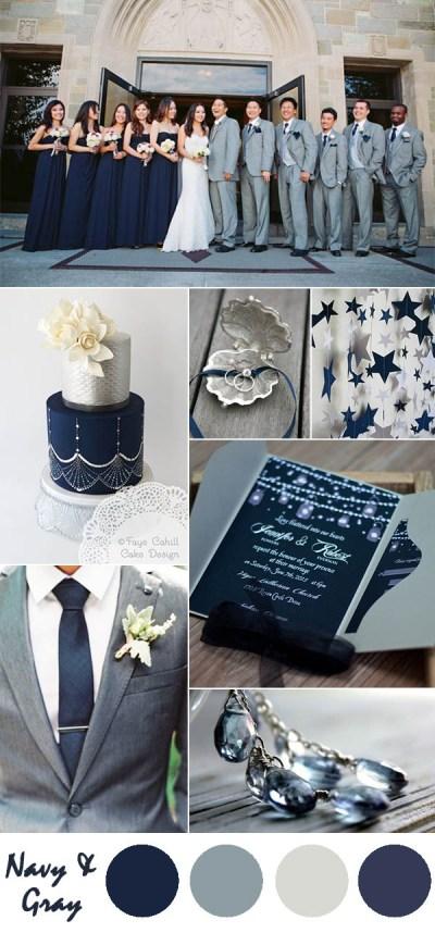 Ten Most Gorgeous Navy Blue Wedding Color Palette Ideas ...