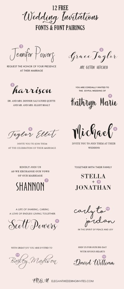 Wedding Invitation Font Pairing Guide with Free Killer ...