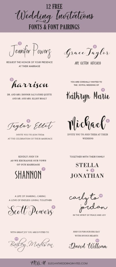 Wedding Invitation Font Pairing Guide with Free Killer ...