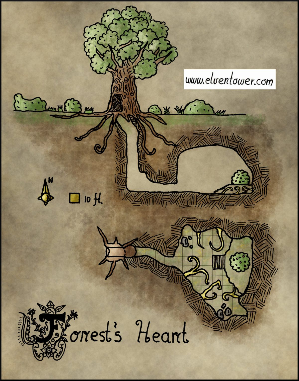 Map 24   Forest s Heart   Elven Tower Map 24     Forest s Heart
