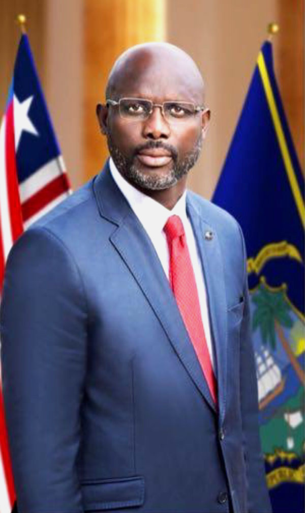 The Executive Mansion H E  George Manneh Weah br    President of the Republic of Liberia