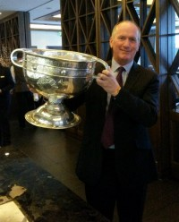 Seamus McGrath with Sam Maguire Cup